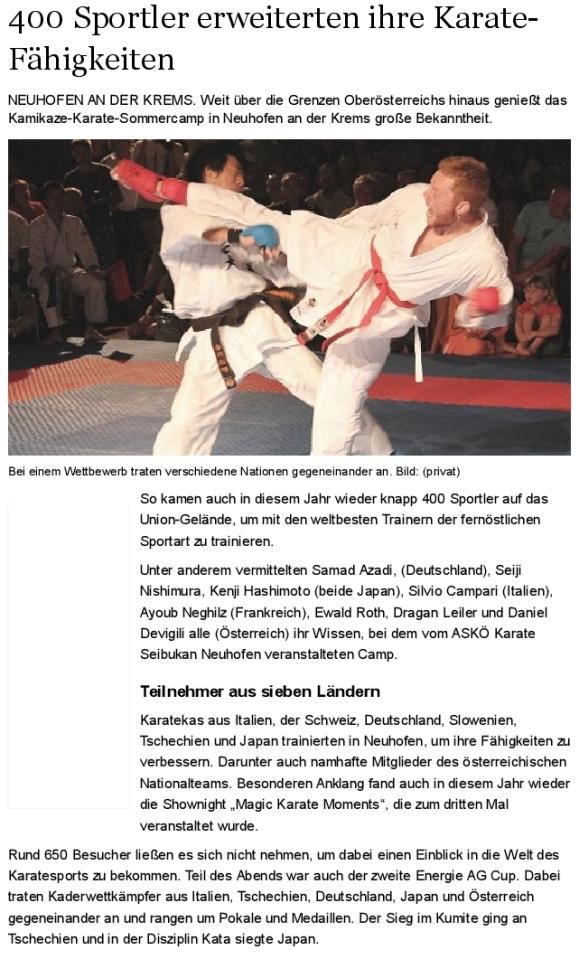 2013-Sommercamp Nachrichten 20-08